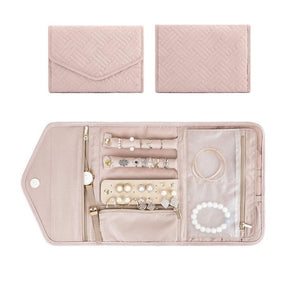 Travel Jewelry Organizer - Roll Foldable Jewelry Case For Journey