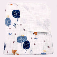 Cotton Two Layers Thick Newborn Baby Swaddle Blanket