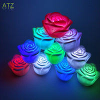 Romantic LED Colorful 10 Rose Candle Night Light