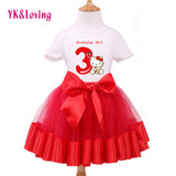 NEW MAY 18 BIRTHDAY Girls Short Sleeve Cotton T-Shirt +Chiffon Skirt