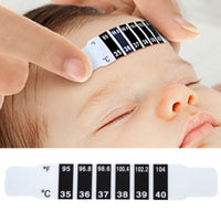 NEW 5Pcs Baby Forehead Temperature Head Strip Thermometer Reusable