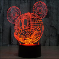 Novelty Cartoon Baby Night Light 3D Mickey Mouse