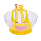 Baby Assist Food Bowl Temperature Sensing Spoon Fork Set
