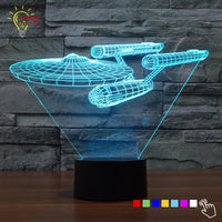 Star Trek Night Light 3D