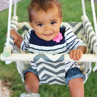 Canvas and Wood Baby hanging chair