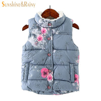 NEW Winter Baby Girls Waistcoat Thick With Fleece