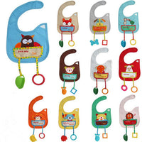 1PC Cartoon Animal Style Waterproof Baby Bibs with teether