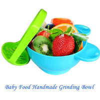 1Pc Baby Food Handmade Grinding Bowl