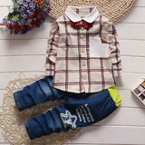 Baby boys long-sleeved jeans set 0-4t