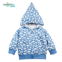Baby Girl Boy Zipper Pointed Hat Hoodies