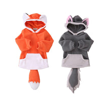 Cute Fox Boys Girls Hoodies 3-24M