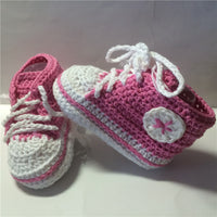 Handmade Baby Girls Boys Crochet Sneaker Booties