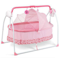 Baby electric folding cradle with mosquito nets