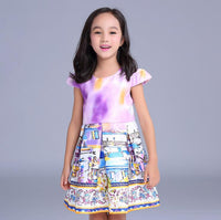 2-6 year sleeveless print dress