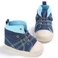 Baby Boys High Canvas Shoes