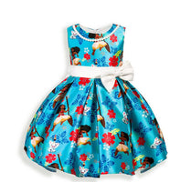 2-6 year marine color printed sleeveless dress