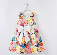 2-6 year girls cartoon print summer dress