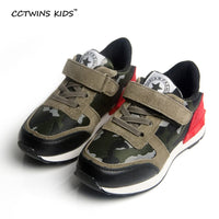 boy genuine leather camouflage trainer