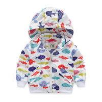 Coat For Girls And Boys Fish Pattern