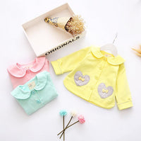 girl cotton bow coat *
