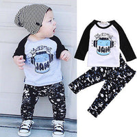 2pcs Baby Boy Top+Pant Set 0-3Y