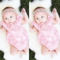 3D Lace Flower Baby Girl Romper
