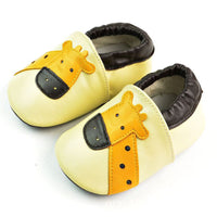 Giraffe Genuine Leather Baby Moccasins