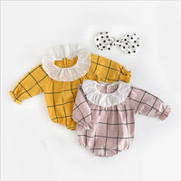 0 to 24m Baby Girl Rompers tan/pink plaid