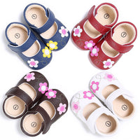0-18M BABY GIRLS SOFT ANTIBACTERIAL NATURAL LEATHER SLIPPERS