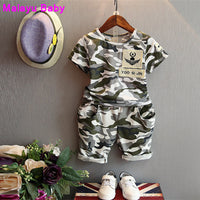 NEW Boys 2pcs camouflage sport set 2-7Y