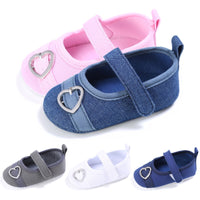 0-1 Years Old Soft Bottom Heart-shaped Shoes