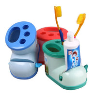 Multifunctional Boot Shape Toothbrush Holder with Toothpaste Squeezer