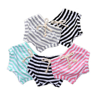 Baby Girls Cotton Striped Shorts