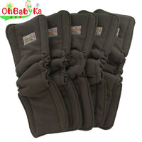 Bamboo Charcoal Reusable Washable Cloth Diaper Insert 5pcs