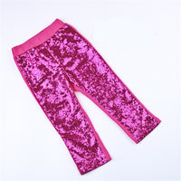 Girls Sequin Glitter Leggings