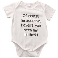 Adorable Baby boys girls letter Bodysuit