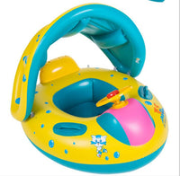 Baby Inflatable Adjustable Sunshade Boat Ring
