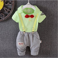 0 - 3 year summer short sleeve cotton 2 PCS set