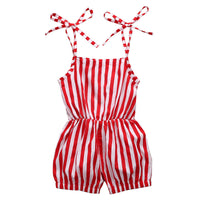 Toddler Girls Striped Romper 2-7Y