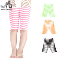 2-7 year fluorescent color stripes leggings