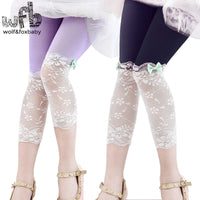 2-8 year lace bow leggings