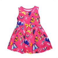 1-6 Years Girls Summer Dress 100% Cotton Sleeveless