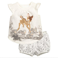 1-6 Years Baby Girls DEER Set