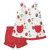 1-6 Years Girl ANCHOR Set 100% Cotton