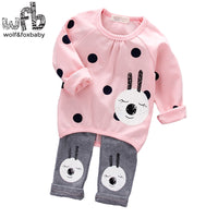 1-4 years Long-sleeves shirt + trousers set