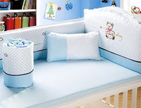6PCS baby bedding set cotton (4 bumpers+sheet+pillow)