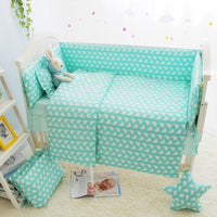 7 Size Green Baby Girl Cot Crib Bedding Sets