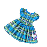 2 3 4 years girls summer cotton plaid dress