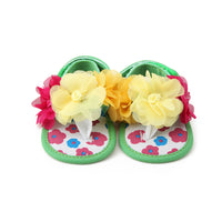 Baby Sandals Yellow Flower 0-18 Months