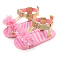 Baby Flower Sandals Soft Leather  0-15 Months